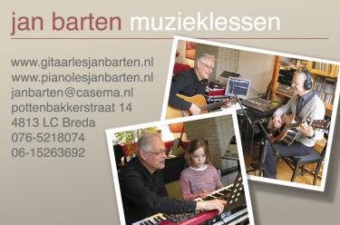 Jan Barten Muzieklessen, Gitaar & Piano